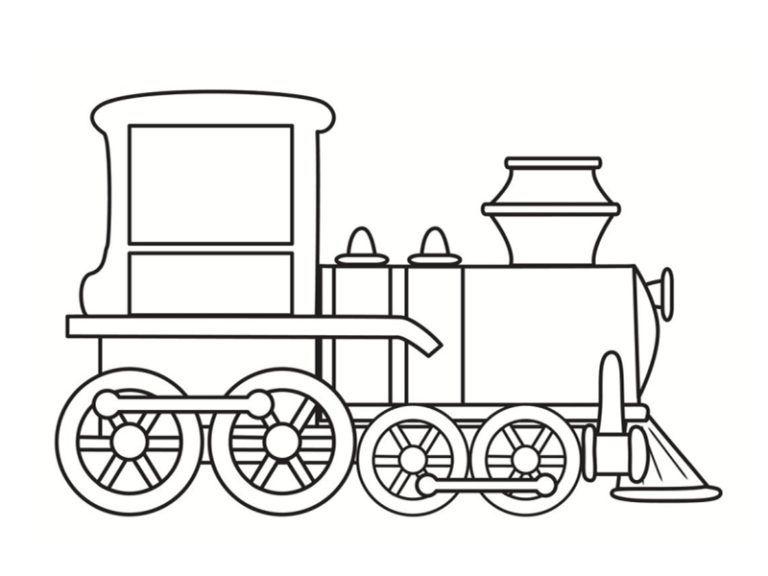 Coloriages De Vehicules Coloriage Train Dessin Train Et Coloriage