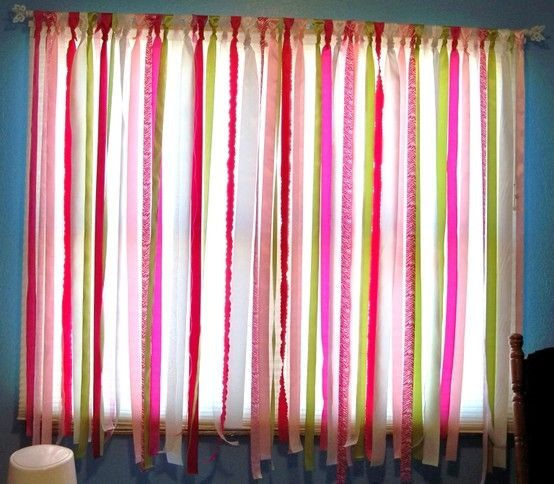Strip Fabric Curtains Easy Way To Decorate Dorm Room Windows