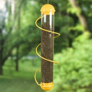 With nine feeding holes, my finches love it. Easy access for food and cleaning.