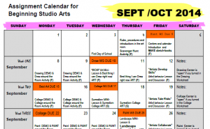 calendar: planning for modified choice in middle school