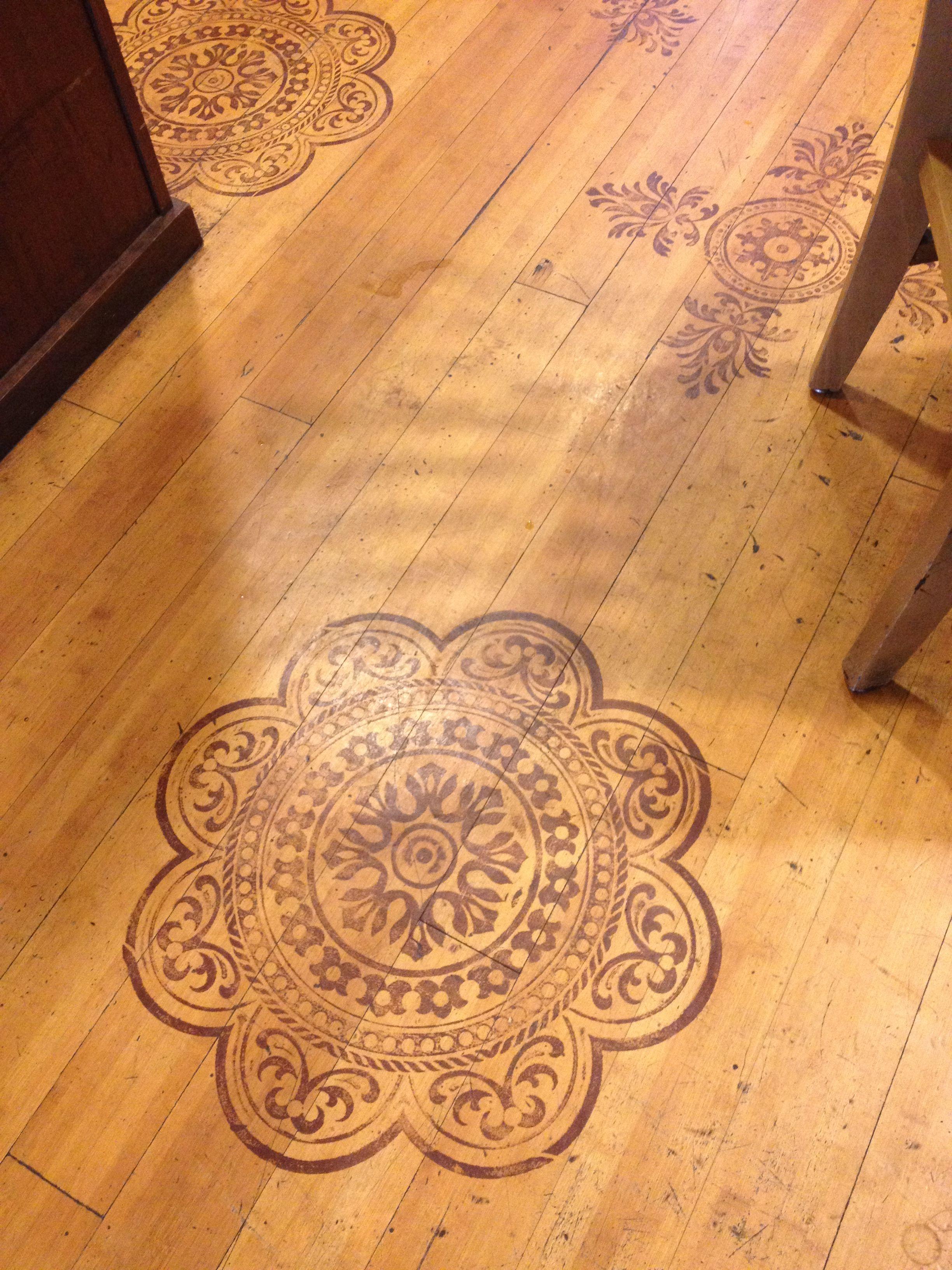 Wood Floor Stain Designs Diy Wood Floors Flooring Stenciled Floor