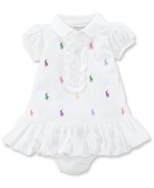 c596c0dfff Ralph Lauren Baby Girls Embroidered Polo Dress - Delicate Pink ...