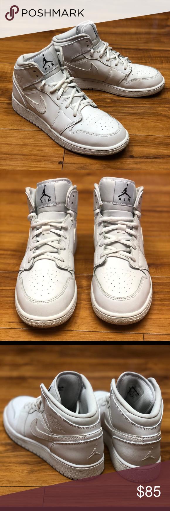 new styles 8becc e9b03 Nike Air Jordan 1 Mid BG 554725 110 Sz 6.5Y Nike Air Jordan 1 Mid
