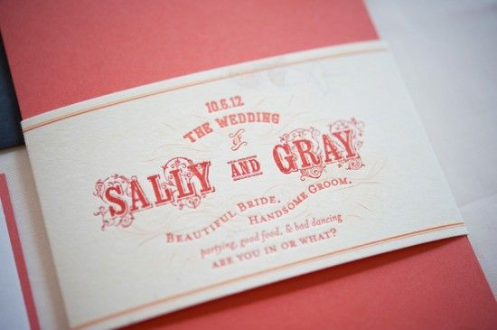 Oh So Beautiful Paper: Sally + Gray's Maine Map Destination Wedding Invitations. Not a fan of the font choice, but the color scheme and wording are cute.