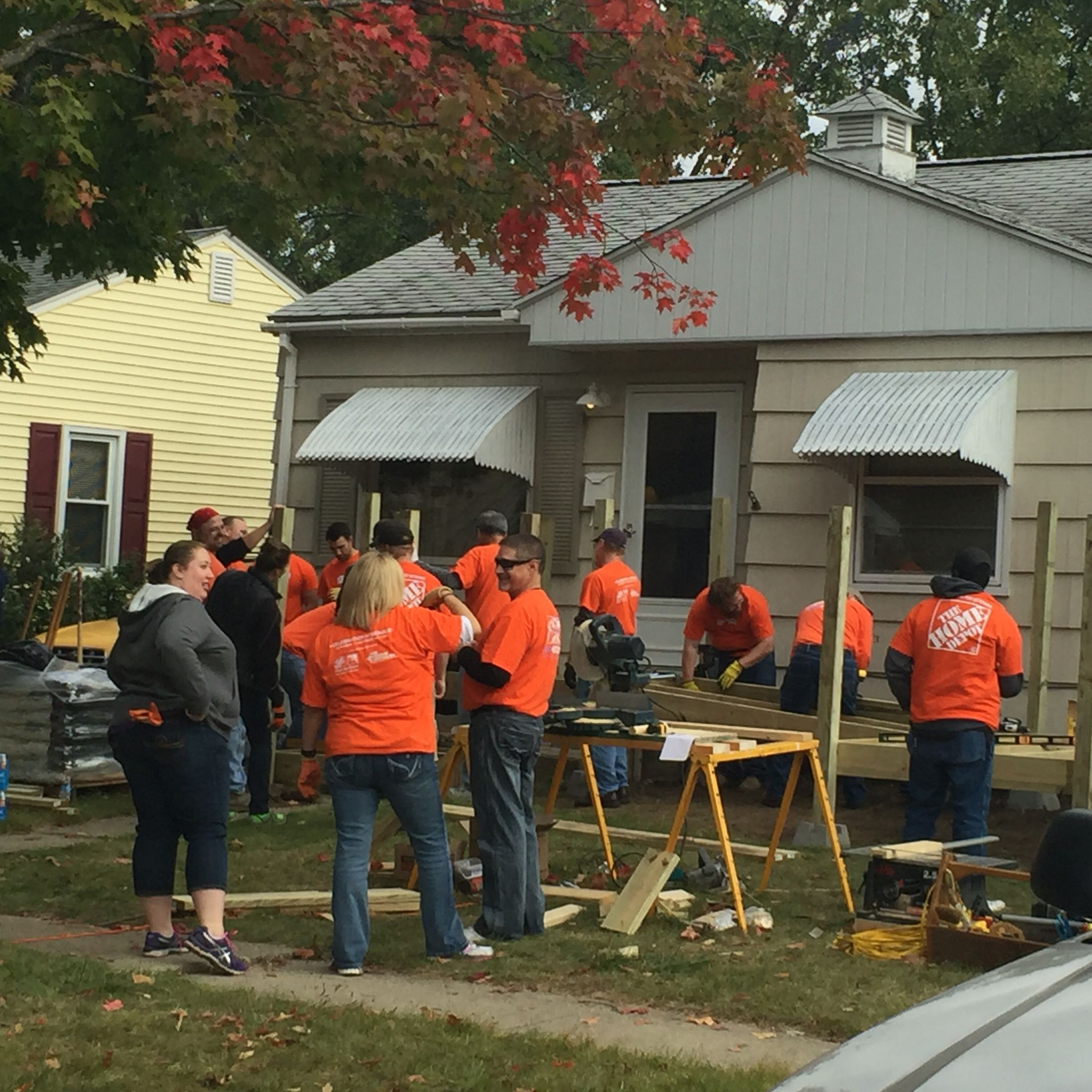 Thank You To Home Depot For Helping Veterans In Need Today