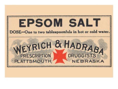 Epsom Salt Premium Poster