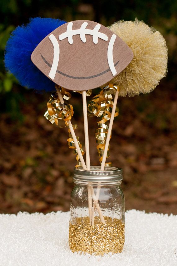 Football party tailgating centerpiece table decoration you