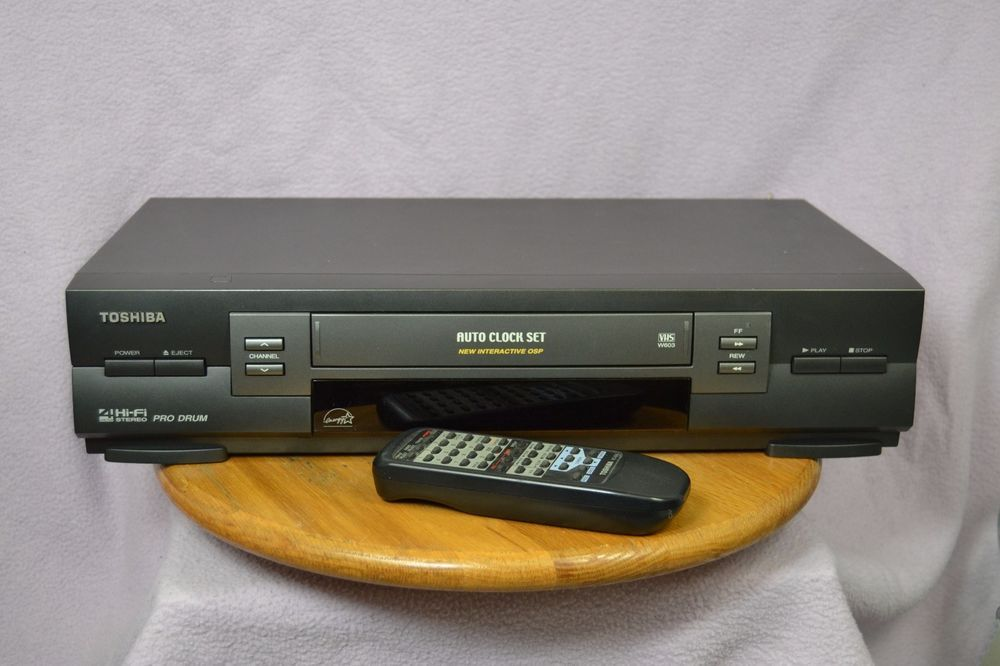 toshiba w 603 vcr 4 head hi fi auto clock set vhs player recorder rh pinterest co uk Toshiba TV VCR Toshiba DVD VCR Combo Manual
