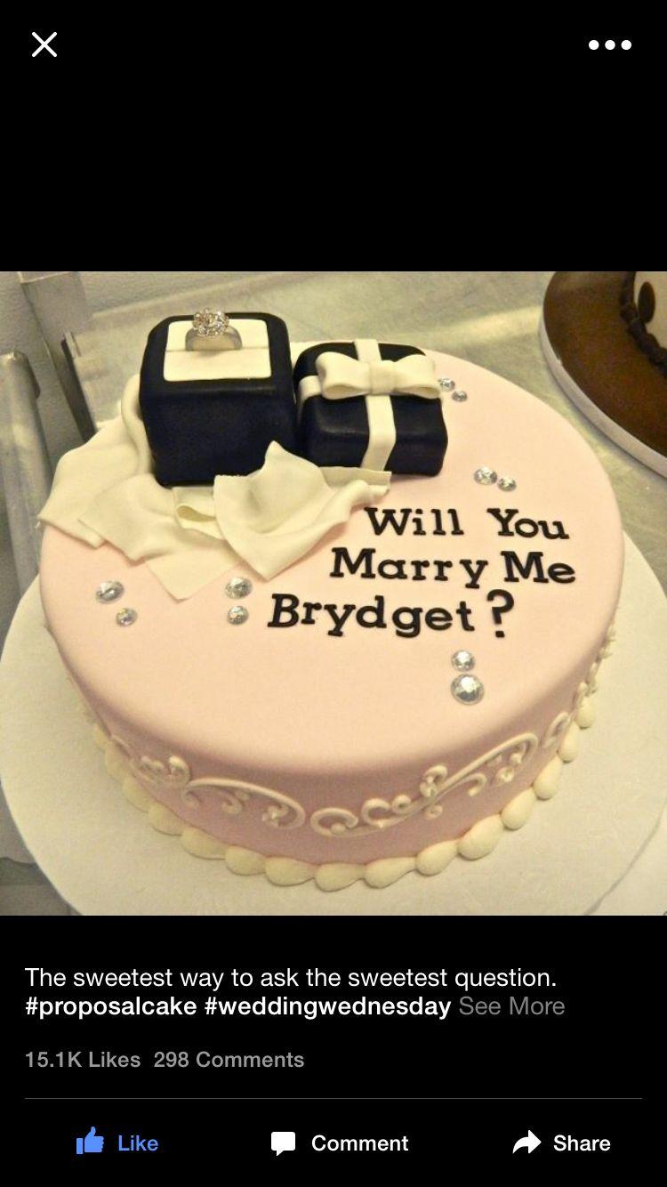 Will you marry me cakes wedding cake pinterest cake