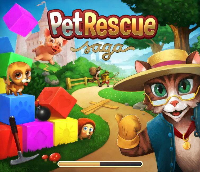 Pet Rescue Saga Screenshot Loading Screen Pet Rescue Saga Animal Rescue Pets