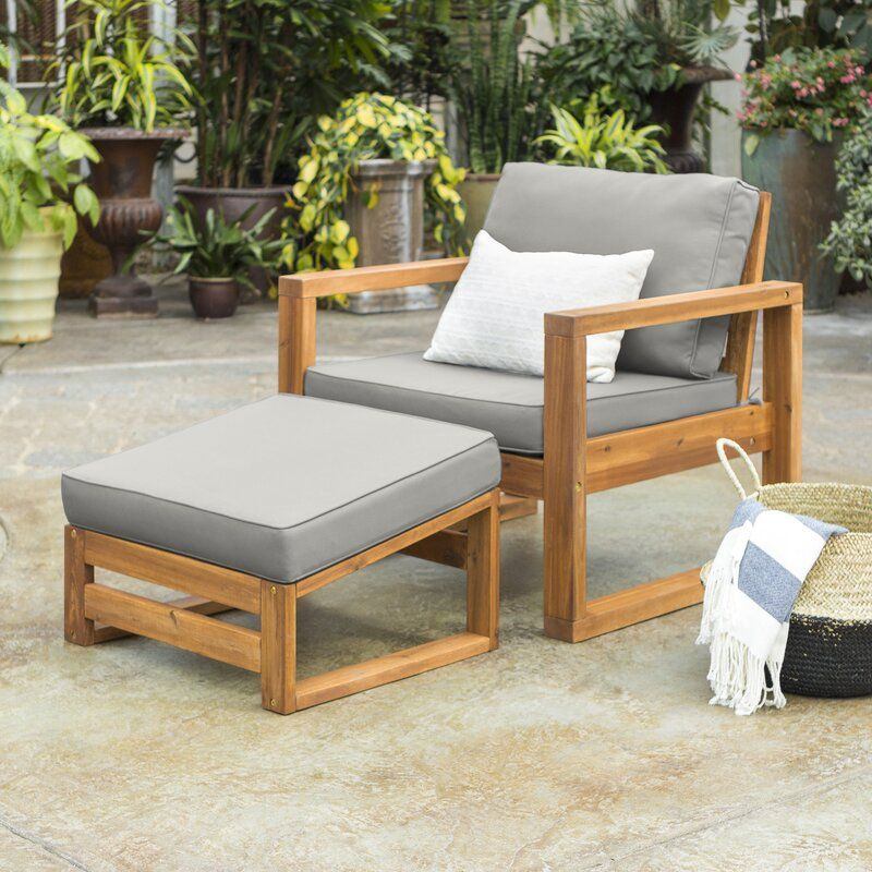 lydon patio chair with cushion and