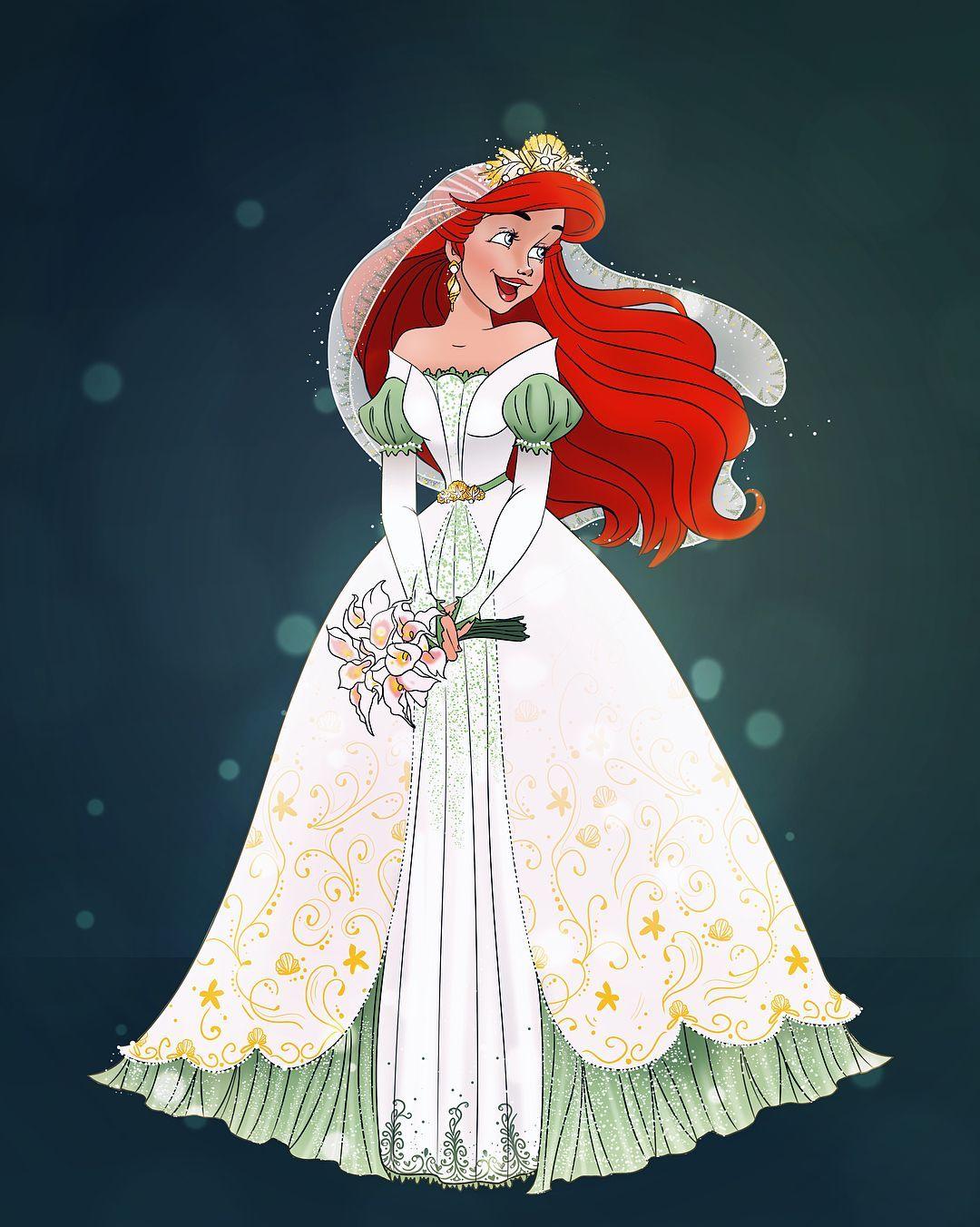 Ariel In Her Wedding Dress Inspired By The Recent Designer Collection Doll Disney Ariel Thelittl Disney Princess Ariel Ariel Wedding Ariel Wedding Dress [ 1352 x 1080 Pixel ]