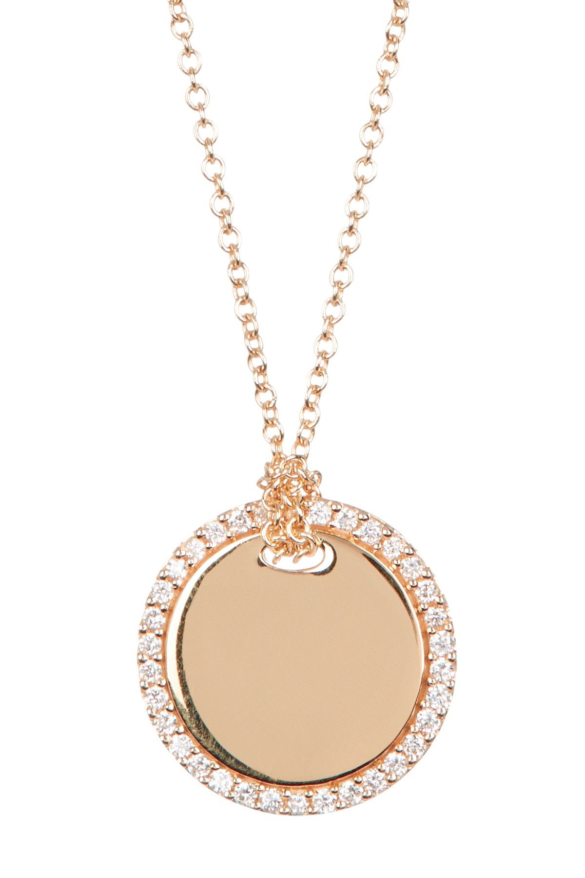 18k rose gold pave diamond circle pendant necklace 013 ctw by 18k rose gold pave diamond circle pendant necklace 013 ctw by bony levy on aloadofball Images