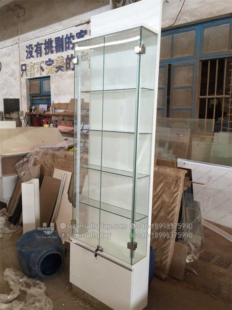 Exhibidor De Vidrio Con Cerradura De Seguridad Para Telefonos