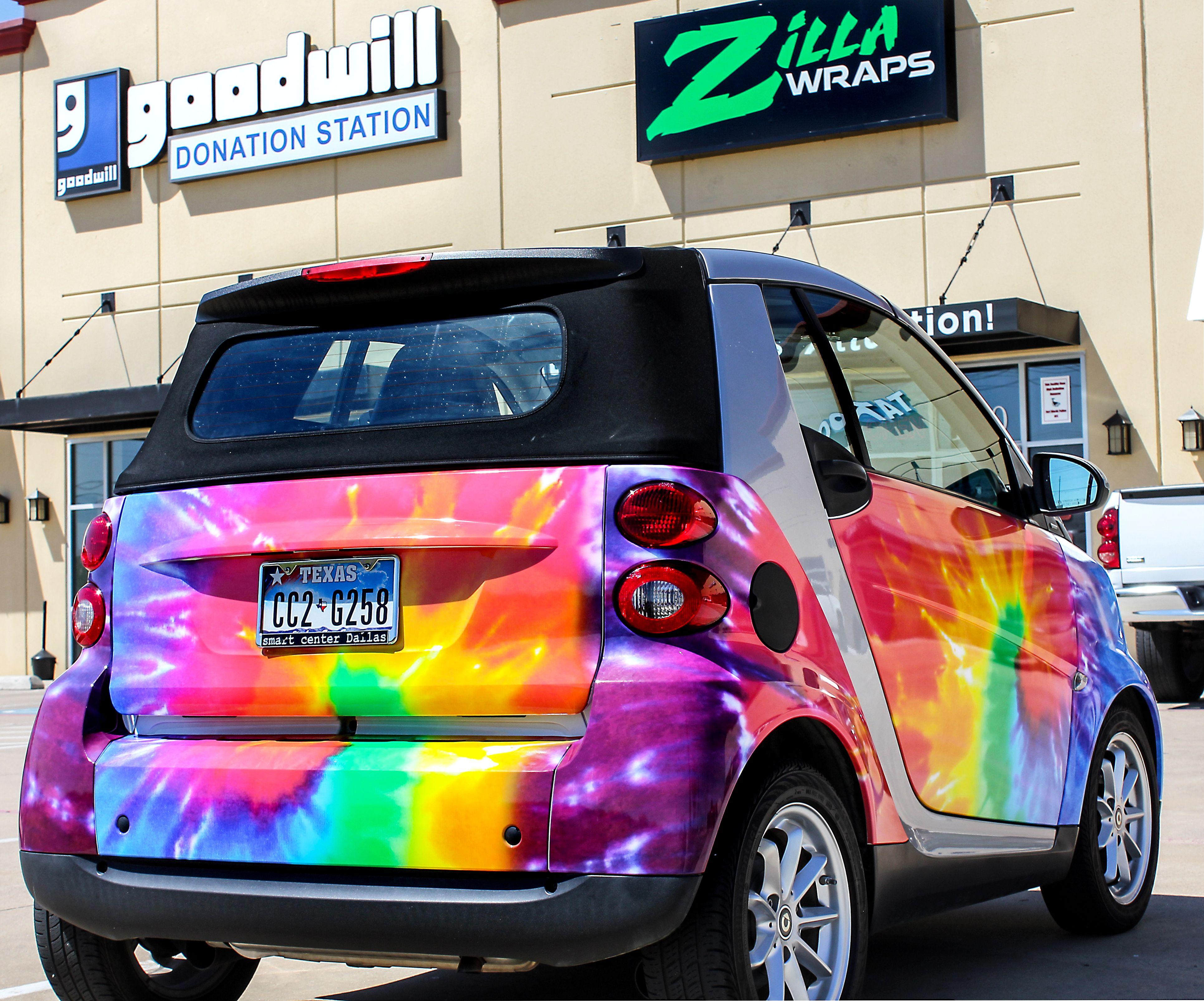 Smart Car Rainbow Car Wraps Gloss Vinyl Cars Car Wrap Car Paint