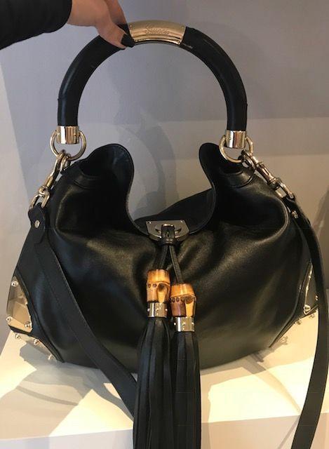 a0d9c5bcf04 Gucci - Babouska Indy Top Handle Shopper Gucci tas Indy model gemaakt met  zwart leer met