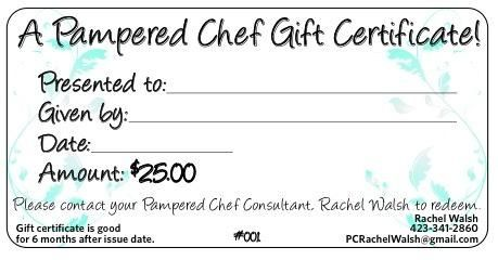 Don T Forget Gift Certificates Are Available For The Holidays Whether It S For 10 25 Or 50 Pampered Chef Pampered Chef Party Pampered Chef Party Ideas