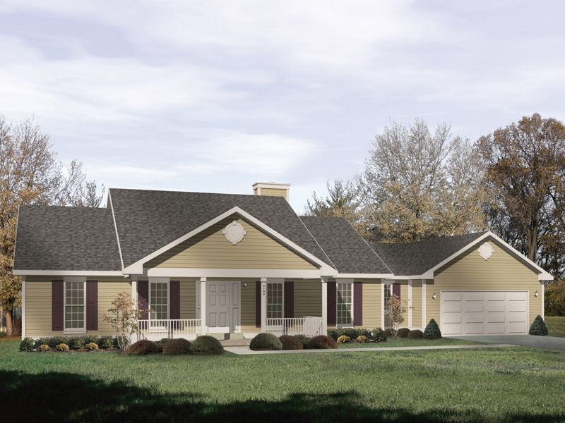 Bedford Heights Ranch Home House plans Home and Country style