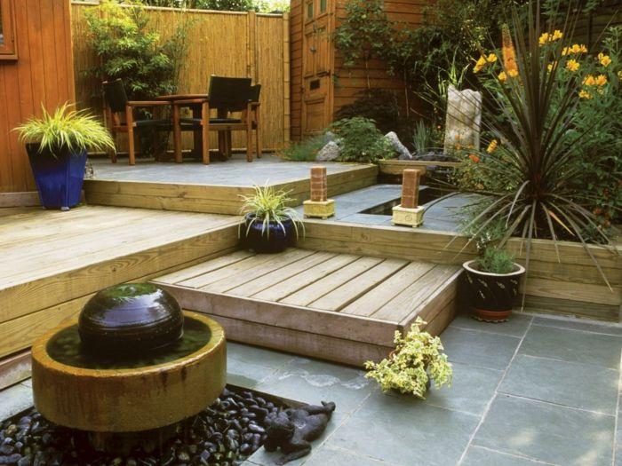 garten gestalten ideen gartentreppen pflanzen brunnen, Garten und erstellen