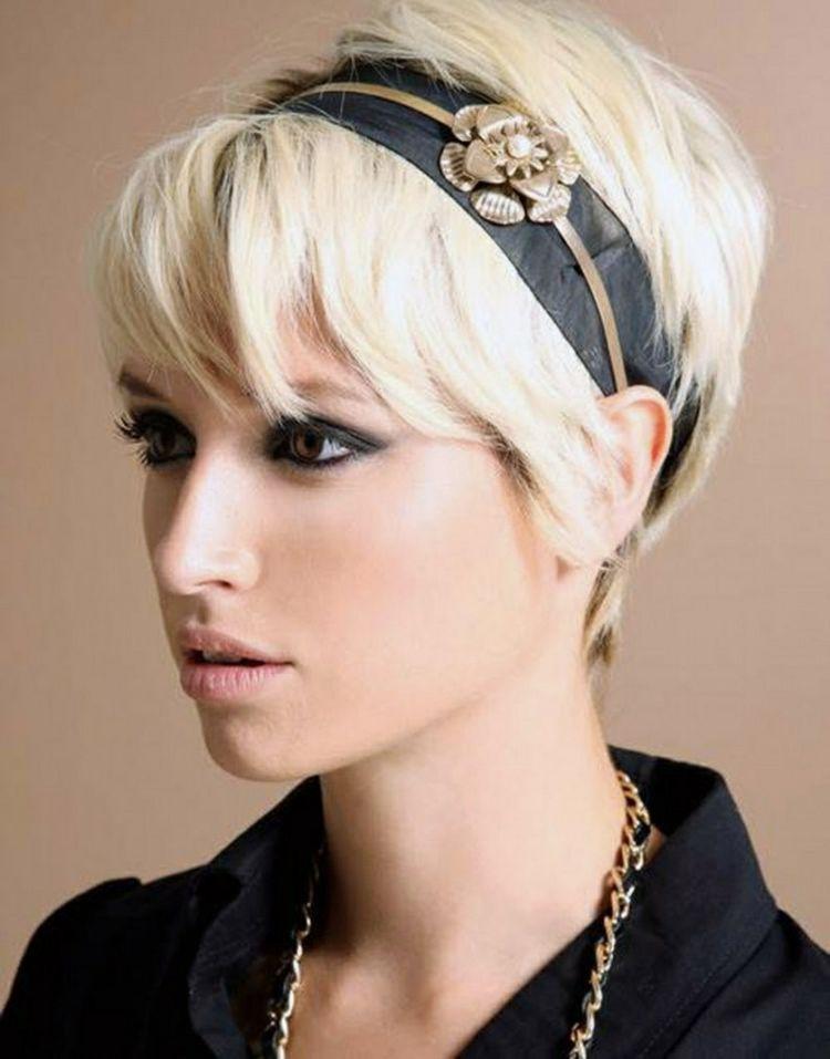 Moderne Haarstyles Fur Dickes Haar Blond Kurzhaarschnitte Haarband