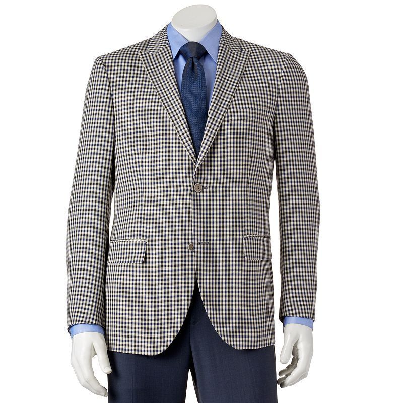 Men's Savile Row Modern-Fit Checked Sport Coat, Size: 44 - regular ...