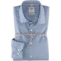 Photo of Olymp Level Five Smart Business Shirt, körperbetont, Kent, Bleu, 38 Olympolymp