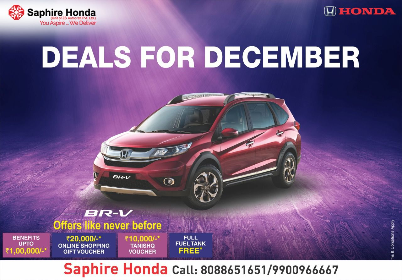 Deals For December On Your Favourite Honda Cars Offers Like Never Before Only At Saphire Honda With Benefits Vouchers Freefuel Honda Honda City Car Dealer