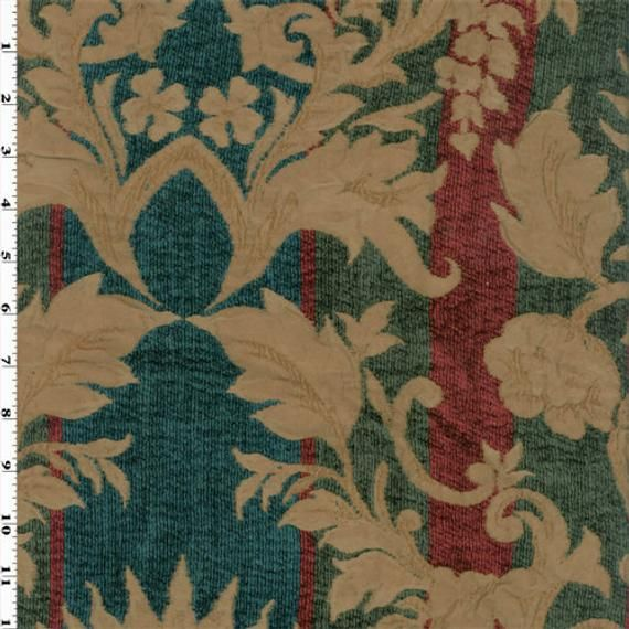 Royal Stripe Chenille Matelasse Home Decorating Fabric ...