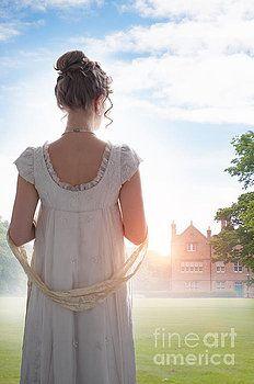 Regency Woman At Sunrise by Lee Avison
