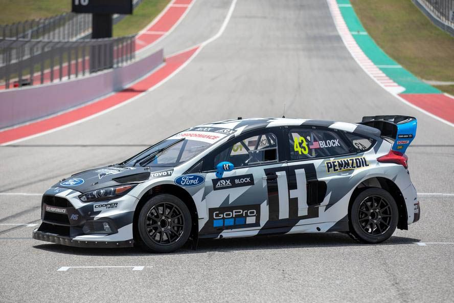This Ford Focus Rs Rx Is Ken Block S Newest Rallycross Steed Carscoops Ford Focus Rs Ford Focus Ken Blocks