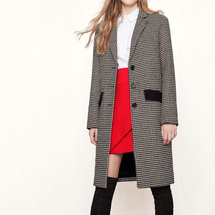 GRAKO Jacquard   maje.com   Wishlist   Coat, Maje et Check coat f4c28517a98