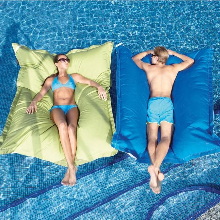 pool pillows from Brookstone.