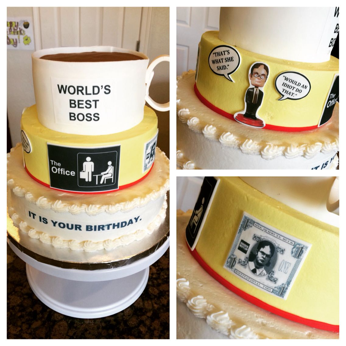 The Office Themed Birthday Cake My Cake Creations Pinterest