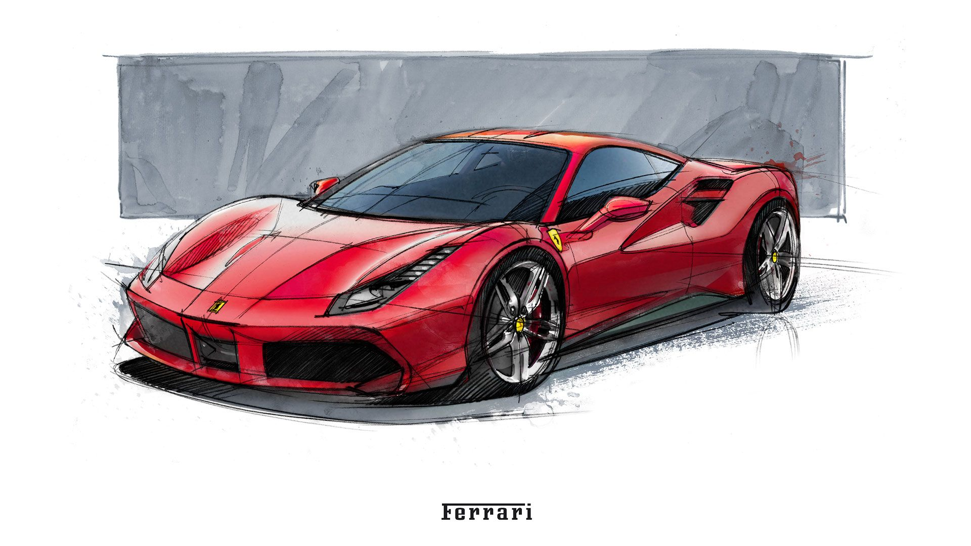 Ferrari 488 Gtb Extreme Performance For Extreme Emotions Car Drawings Concept Car Design Ferrari 488