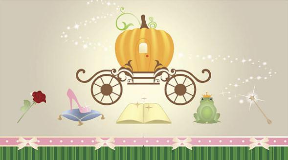 قصص للاطفال سندريلا والأمير Baby Mobile Novelty Lamp Decor
