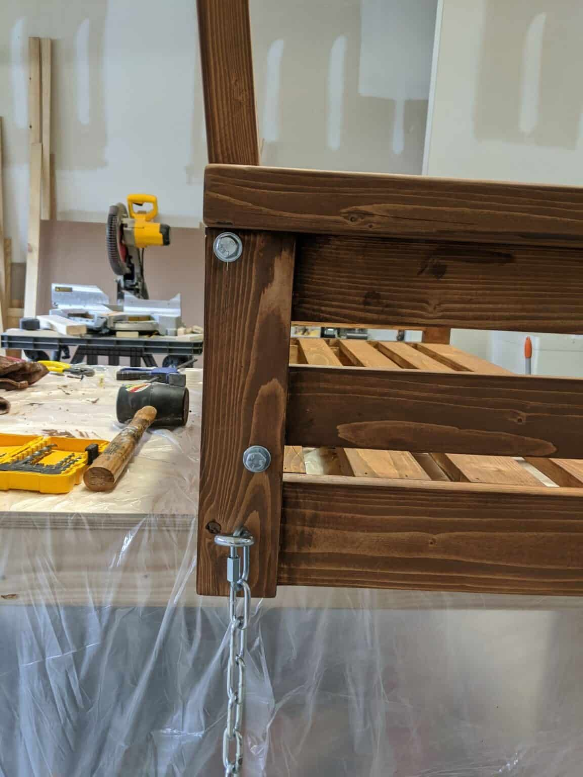 DIY Porch Swing Plans Crafted by the Hunts in 2020 Diy