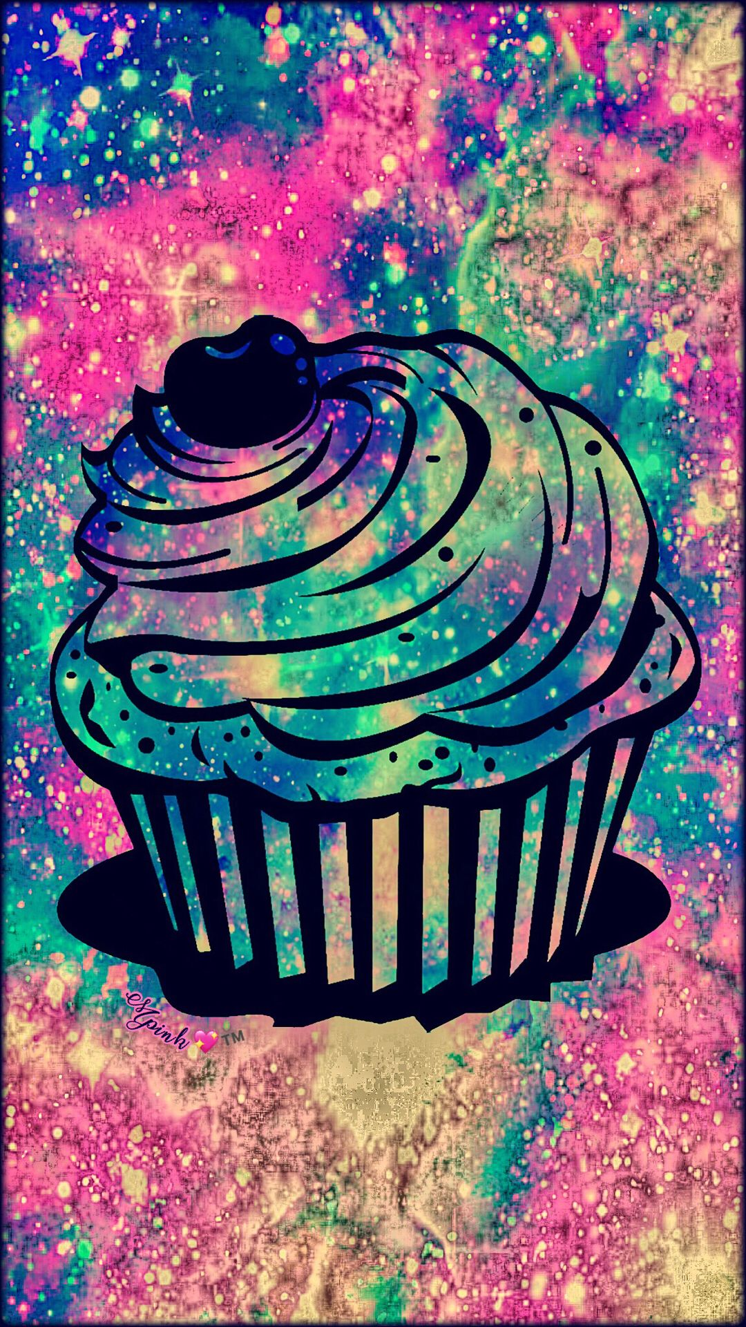 Vintage Cupcake Galaxy Wallpaper Androidwallpaper Iphonewallpaper