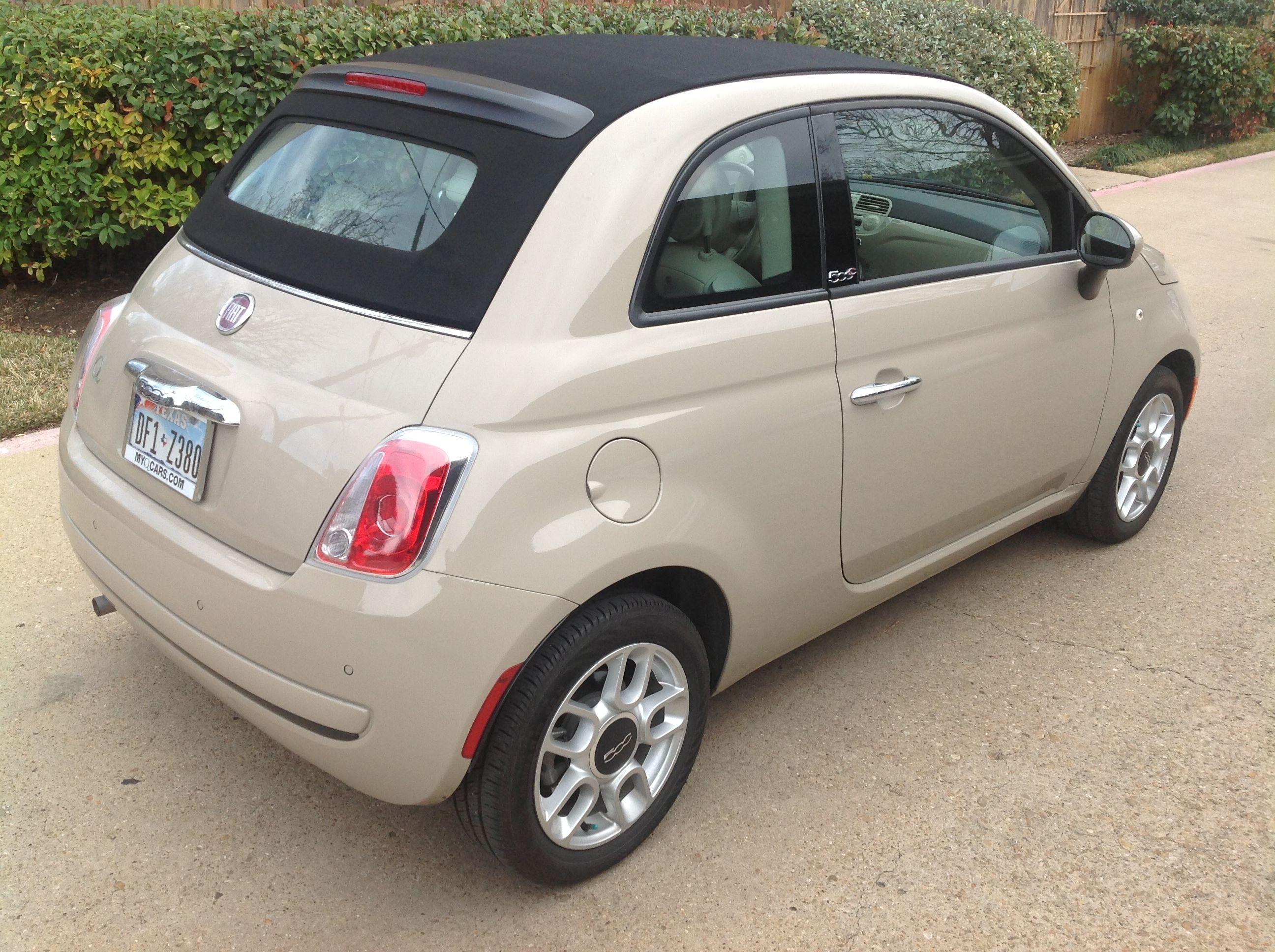 Ca car color beige - 2012 Fiat 500c Mocha Latte Love The Italians