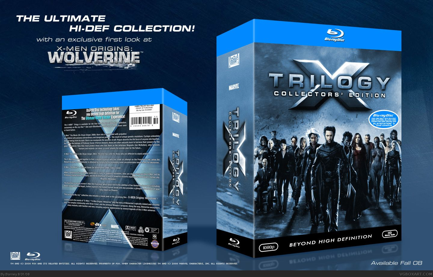 Viewing Full Size X Men Blu Ray Trilogy Box Cover X Men Trilogy Blu Ray