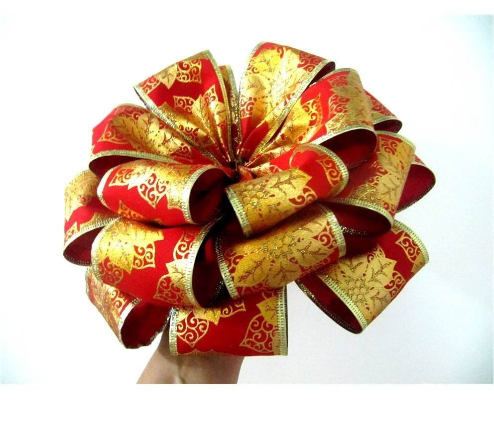 moos flores navideas de tres capas en cintas moos pinterest navidad fabric flowers and craft