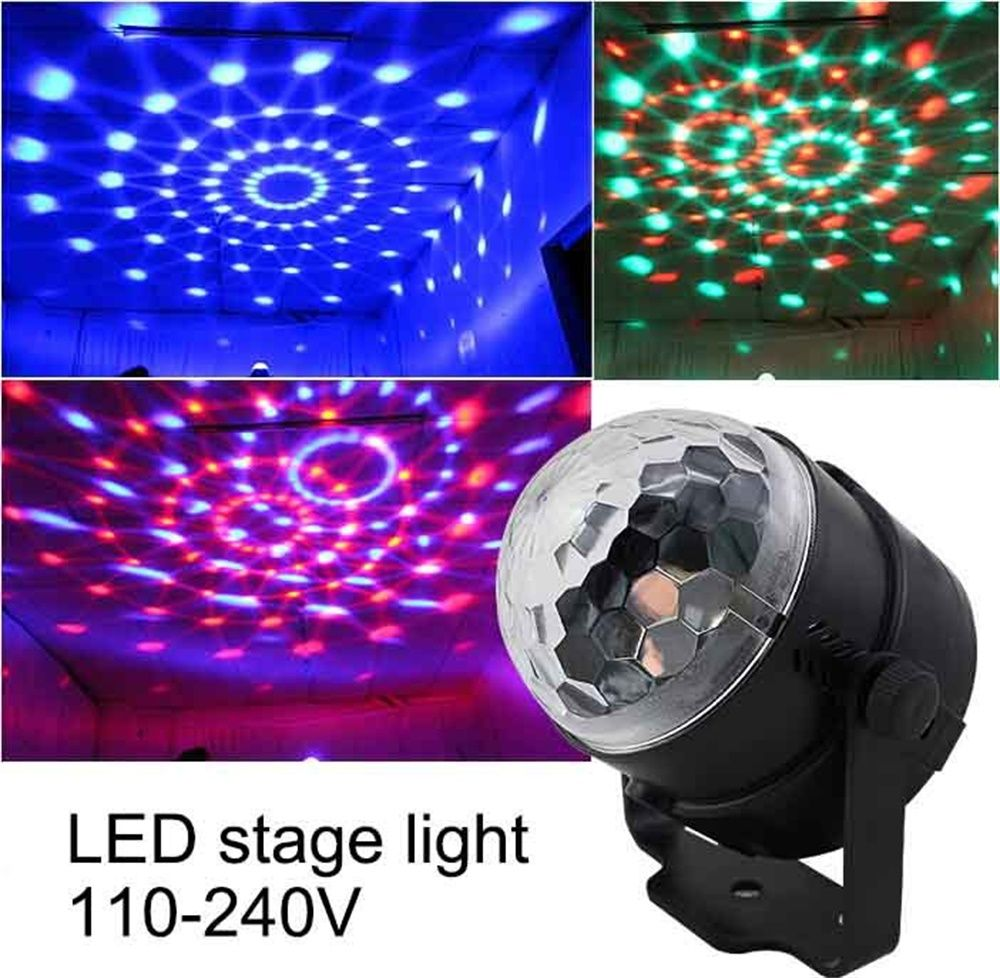 110 V 220 V Mini Rgb Led Di Cristallo Magic Ball Effetto Di Fase Di Illuminazione Lampada Lampadina Del Partito Della Crystal Magic Ball Dj Lighting Lamp Bulb