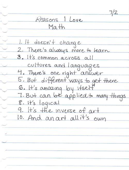 Reasons Why I Love Math | GHF Humor | Pinterest | Math, School and ...