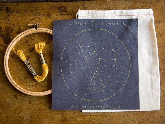 Orion Constellation Embroidery Kit By MiniatureRhino On