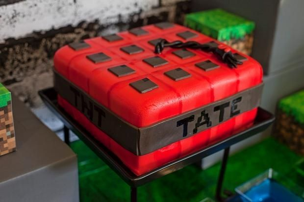 Awesome Minecraft Birthday Cakes Spaceships and Laser Beams