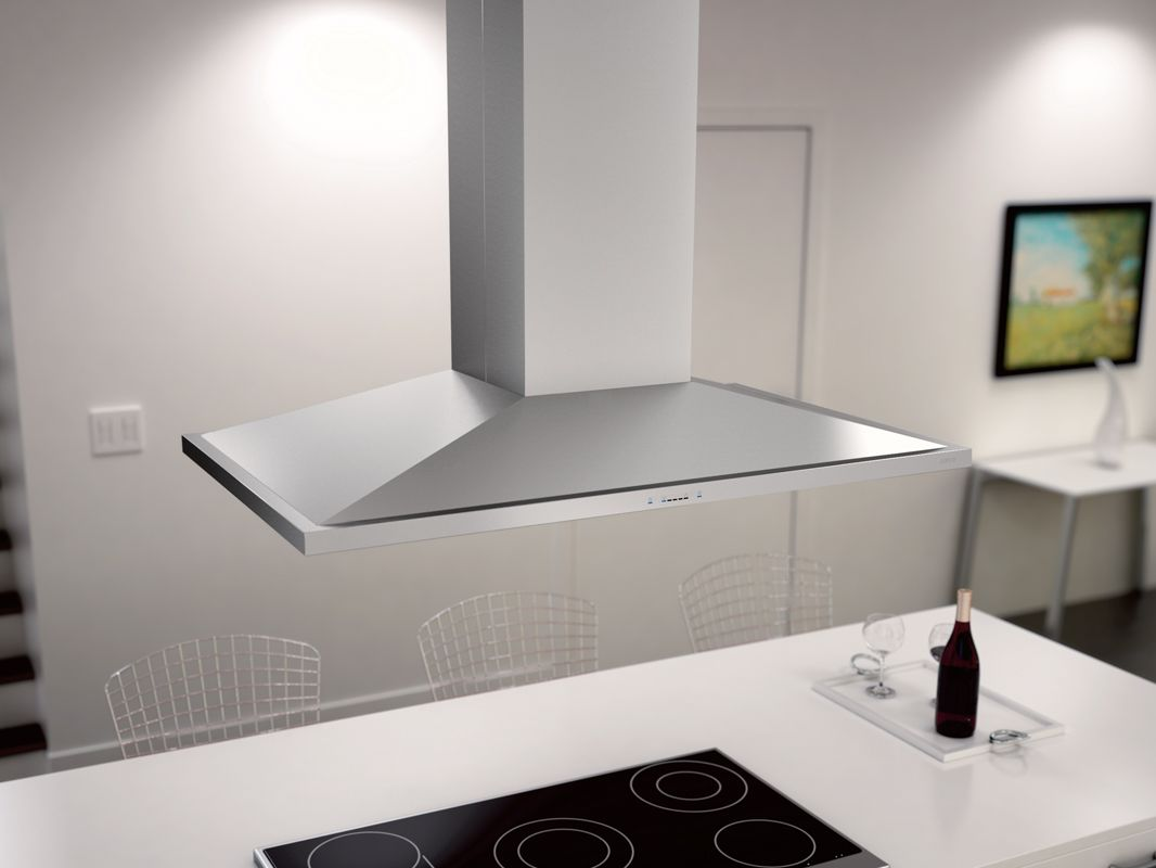 With Its Low Profile Bell Shape The Zephyr Anzio Island Range Hood Adds Style To Any Kitchen Get More Details On The Island Range Hood Range Hood Island Hood