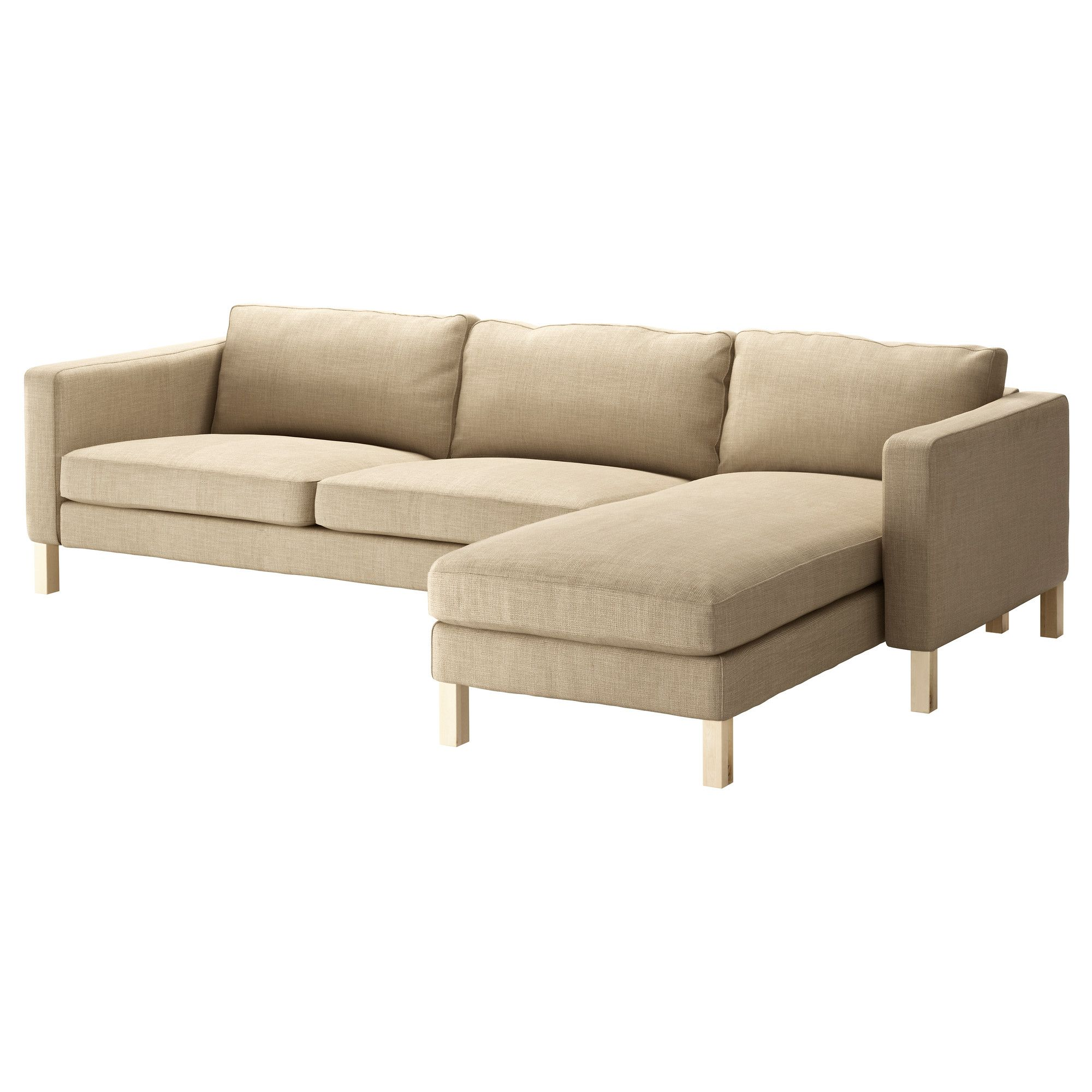 KARLSTAD Sofa and chaise lounge - Lindö beige - IKEA $998.00 | condo ...