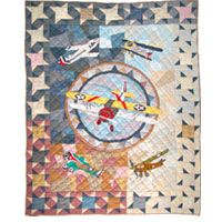 airplane quilt | QUILTS - CARS, TRUCKS, TRACTORS, TRAINS ... : airplane quilts - Adamdwight.com