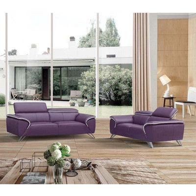 NociDesign Leather Sofa and Loveseat Set