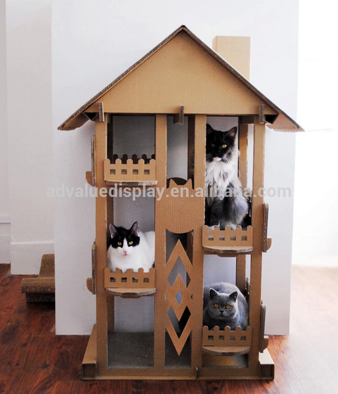Wholesale Indoor Play Cat Mat / Cardboard Cat House New