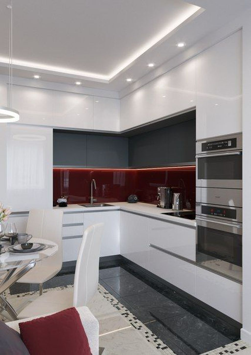 15 Inspiring Small Kitchen Remodel Design Ideas  Cuisine moderne